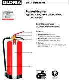 Gloria Pulver-Dauerdruckfeuerlöscher PD 6 GA