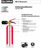 Gloria CO2-Feuerlöscher KS 2 ST