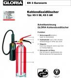 Gloria CO2-Feuerlöscher KS 5 ST